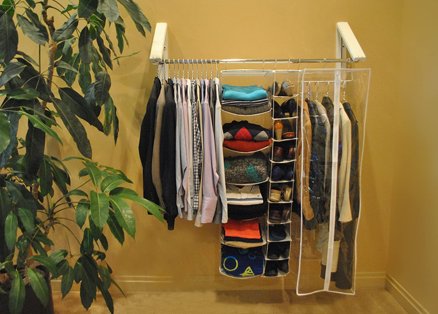 Amazon.com: Arrow Hanger AH3X12 Quik Closet Clothes Storage System: Home &  Kitchen