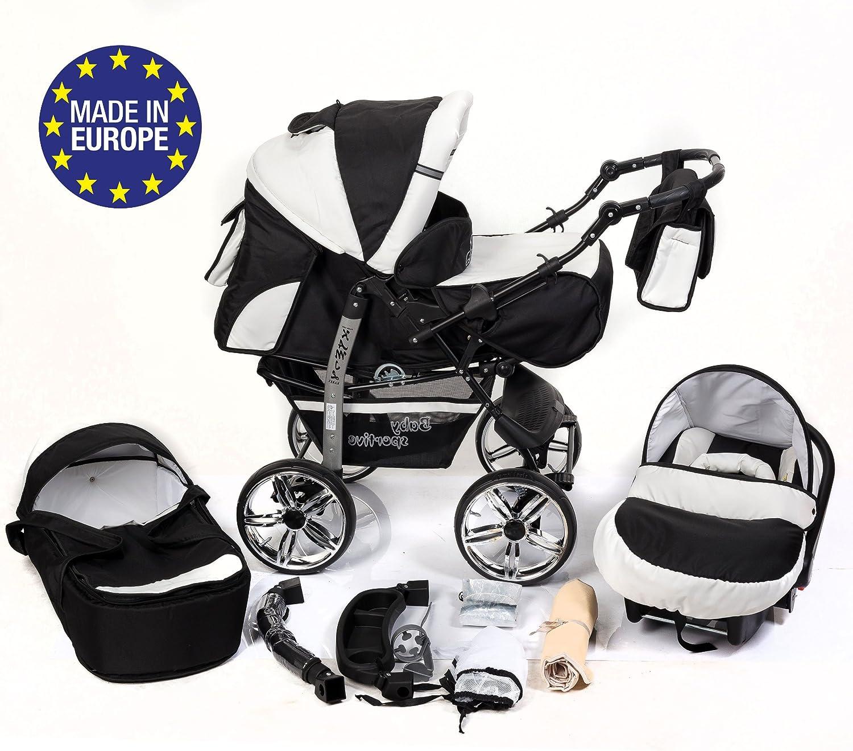 UK 3IN1 Safe Newborn Baby Pram Car Seat Pushchair Travel System Bu ggy Stroller