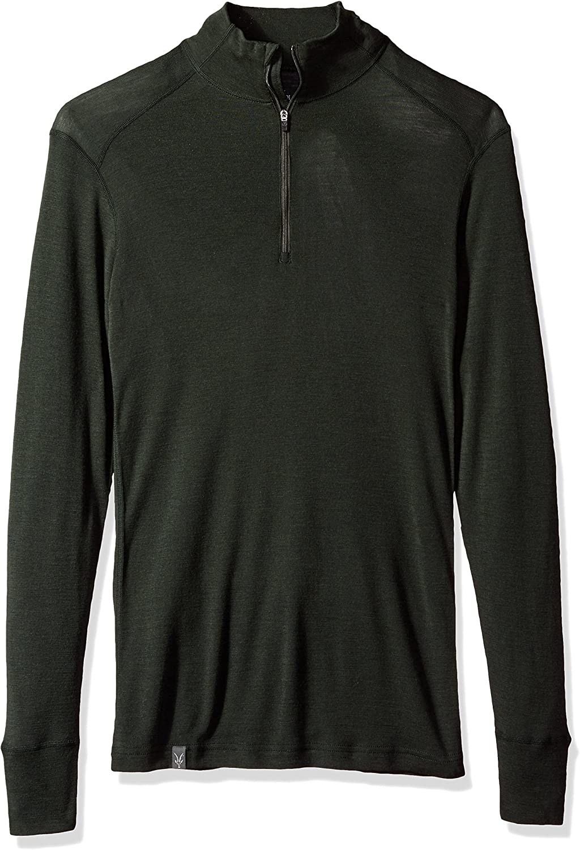 Ibex Merino Wool Mens Woolies 1 Zip Neck Shirt