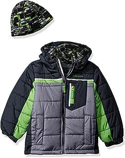 1f54fedee Amazon.com  London Fog Boys Double Breasted Wool Blend Hooded Winter ...