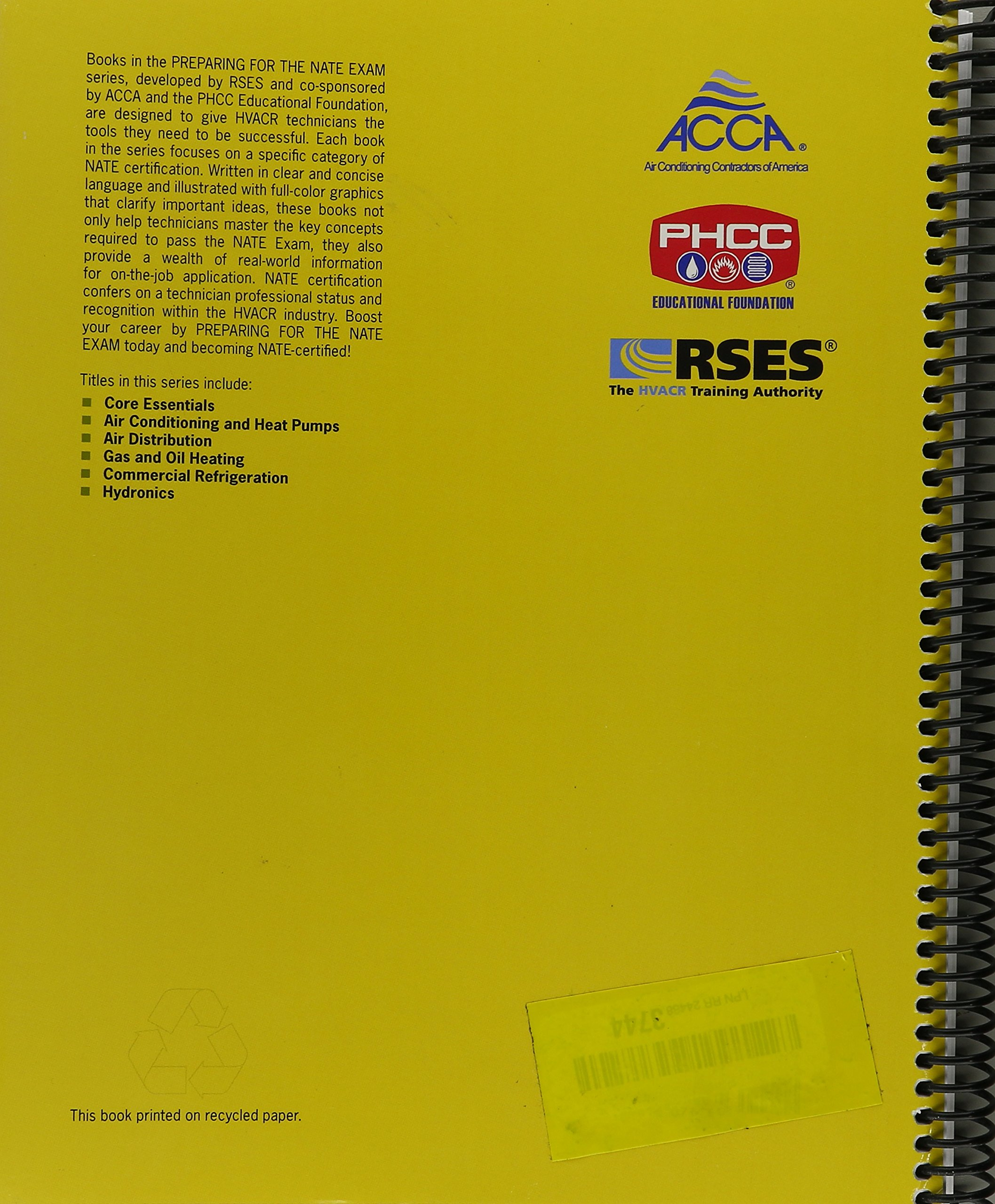 Preparing for the nate exam core essentials refrigeration preparing for the nate exam core essentials refrigeration service engineers society rses 9781616071165 amazon books 1betcityfo Images