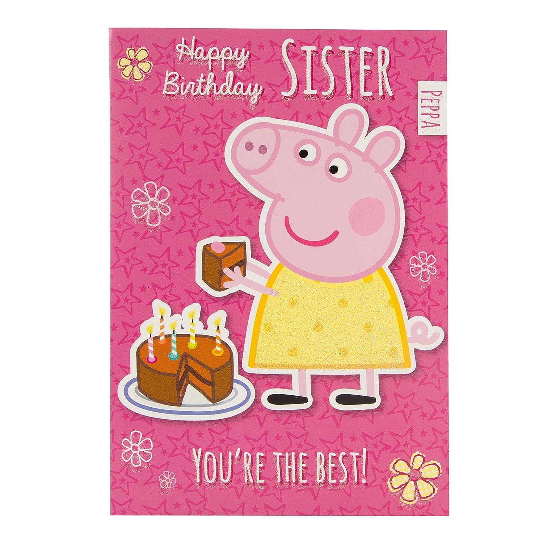 Amazon.com: Peppa Pig – Tarjeta de felicitación de ...
