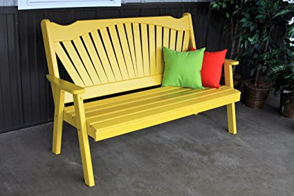 Remarkable Best Garden Bench 5 Fanback Porch Benches For Outdoor Entertaining Designer Patio Lanai Seating Living Furnishings Usa Amish Made For Deck Short Links Chair Design For Home Short Linksinfo