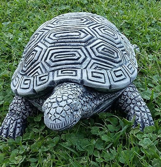 piedra Figura tortuga aprox. 31 cm de largo x 20 cm de ancho x 14 cm de alto Decoración Jardín Animales Animales Figura Jardín figuras resistente a heladas macizo de piedra: Amazon.es: Jardín