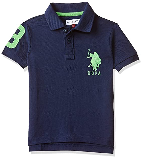 US Polo Association Boy's Plain Polo Boys' Polos at amazon