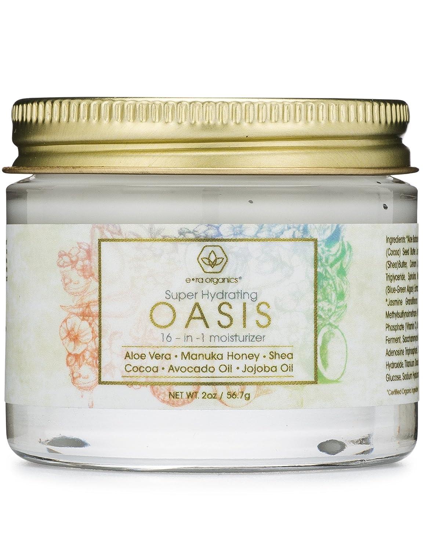 Rejuvenating Natural Face Moisturizer Cream - Extra Hydrating 16-in-1 Facial Cream For Dry Skin With Manuka Honey, Cocoa Butter, Avocado Oil, Jojoba Oil - pH Balanced Non Greasy Day & Night Cream Era Organics