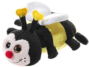 Heunec 449275 - Peluche de Abeja con Ojos Brillantes, Color Negro, Amarillo y Blanco
