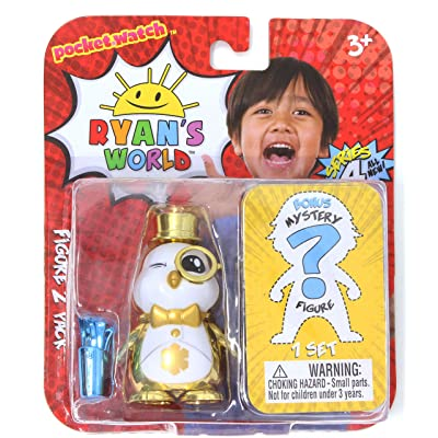 Ryan's World Pocket Watch Figure 2 Pack Series 4 - Posh Peck and Bonus Figure: Toys & Games