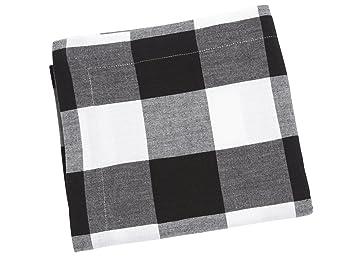 Tischdecke schwarz-weiß-kariert, 90 x 90 cm: Amazon.de: Küche & Haushalt