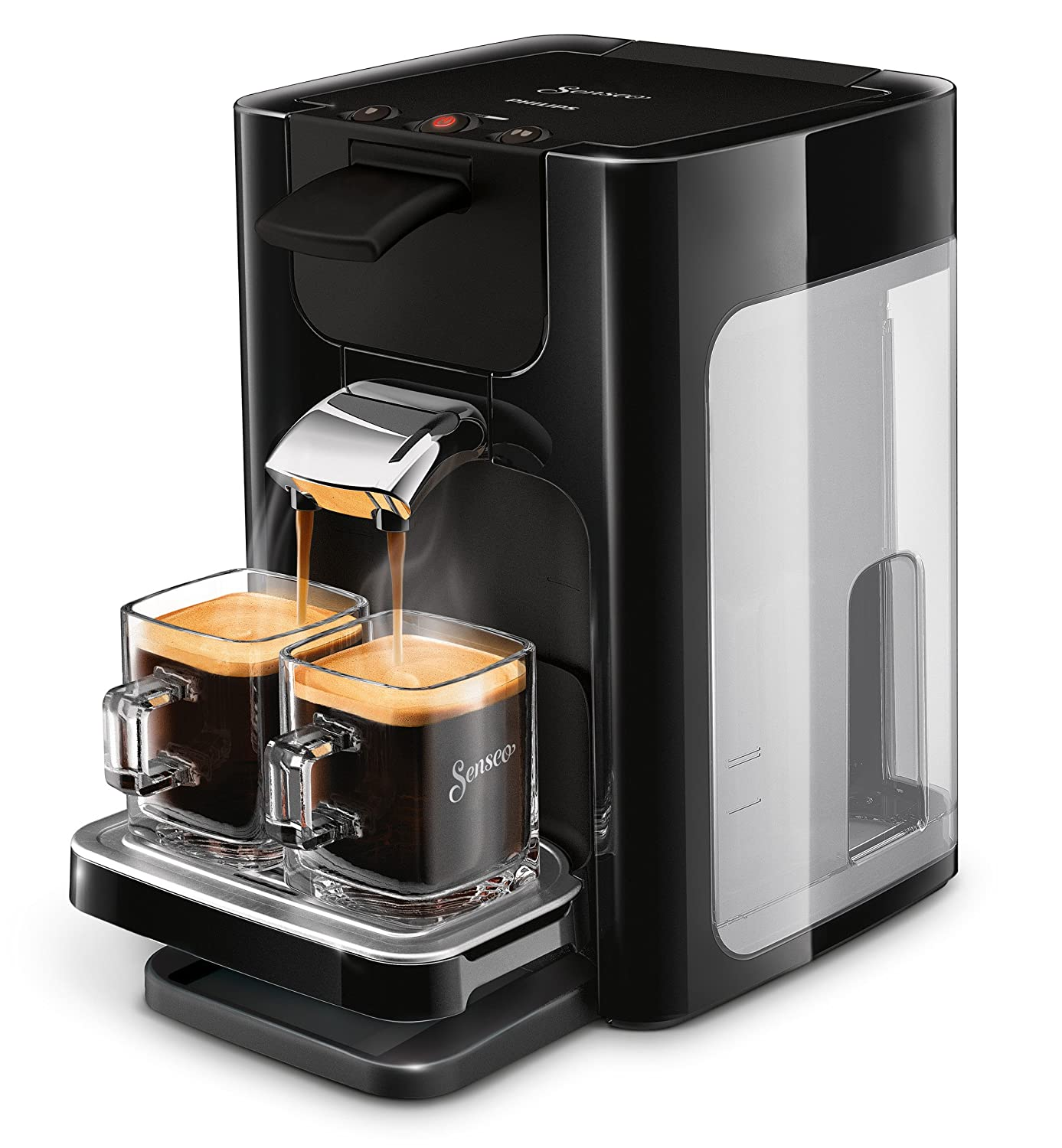 Senseo Quadrante hd7865/60 Coffee Machine in Capsules 1.2L 8 Cups Black – Coffee (Freestanding, Coffee Machine in Capsules, Coffee Beans, Coffee Pods, Black, Buttons, 50/60 Hz) Philips