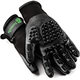 HandsOn Revolutionary Grooming/Bathing Gloves for Pets Black Size Medium
