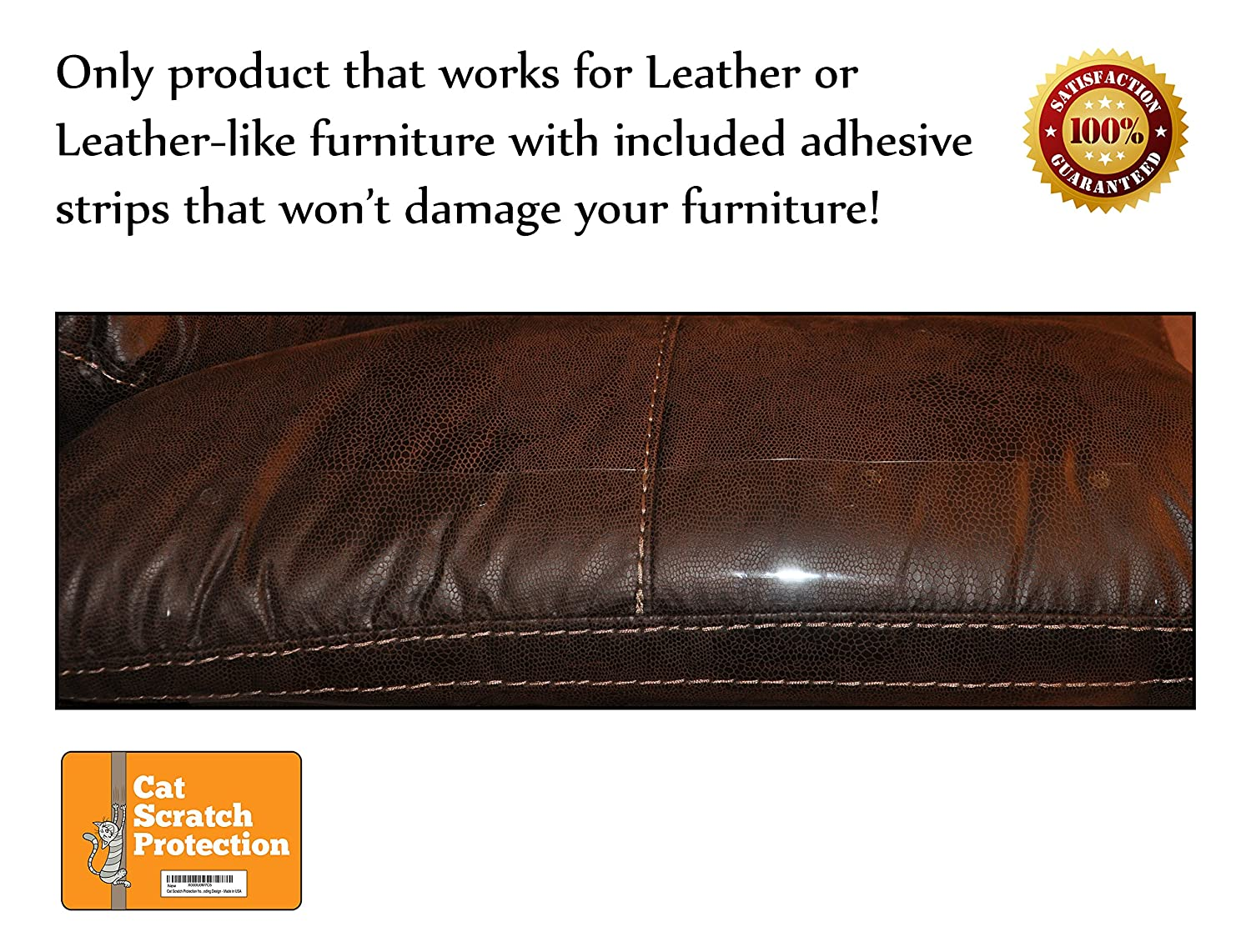 Cat Scratch Protection On Any Couch, Sofa Or Chair, Works For Leather And  Upholstered Furniture, 2 Scratching Guards Included, Scratching Deterrent,  Deter ...