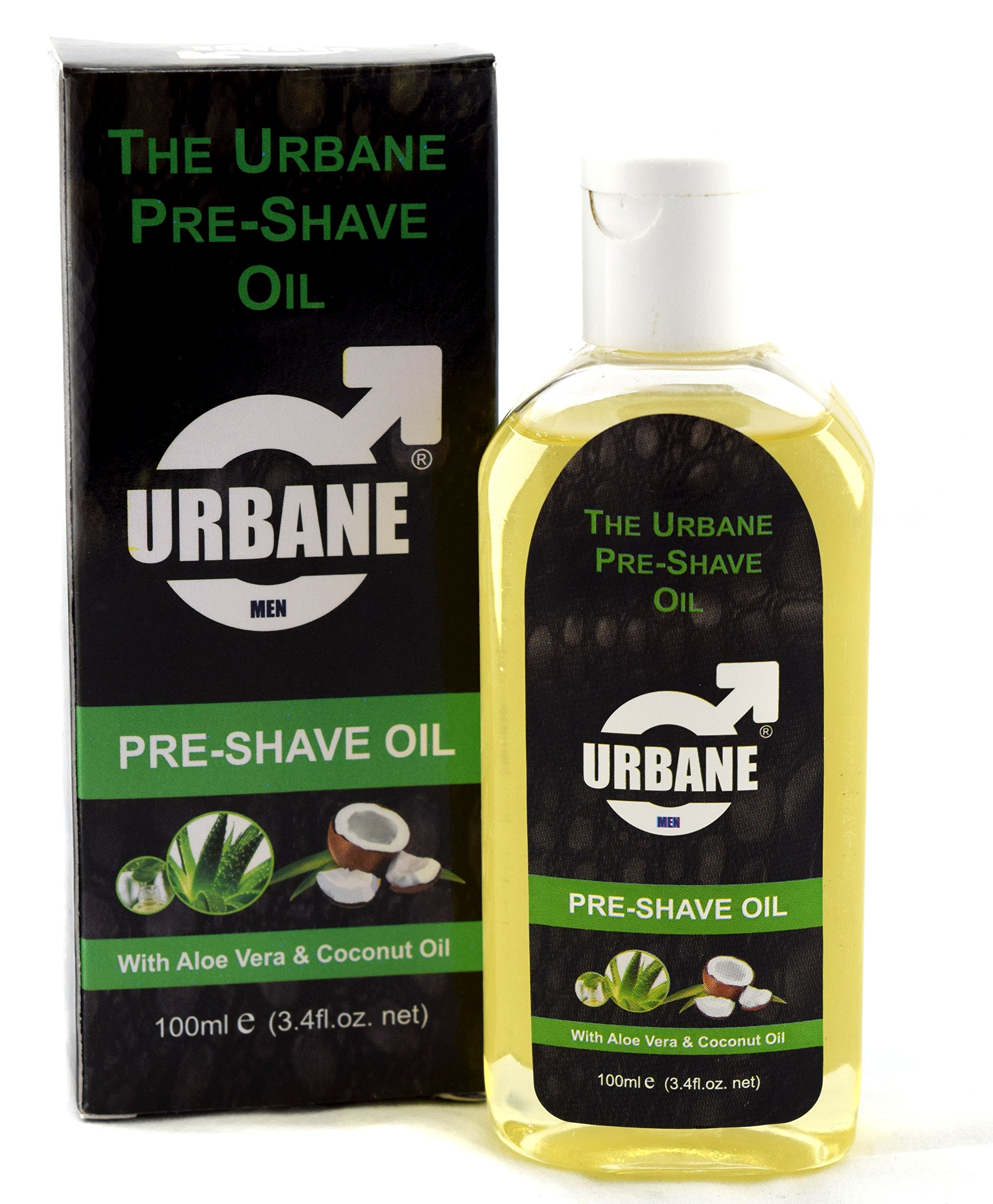 Urbane Men Pre-Shave Oil for Manual & Electric 100ml (Aloe Vera & Coconut  Oil) - Buy Online in Brunei. | urbane men Products in Brunei - See Prices,  Reviews and Free Delivery