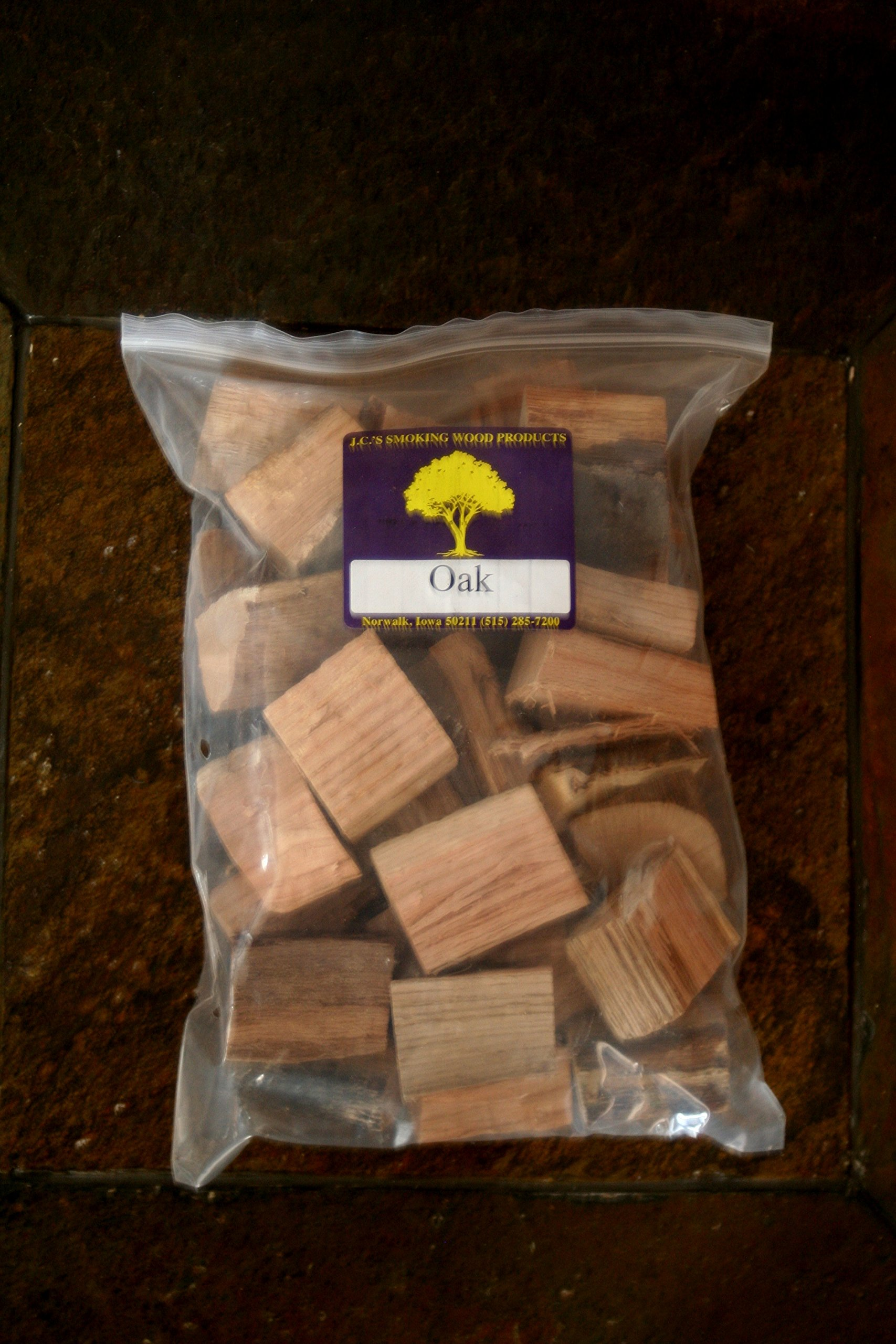 J.C.'s Smoking Wood Chunks - Gallon Sized bag - Oak by J.C.'s Smoking Wood Products