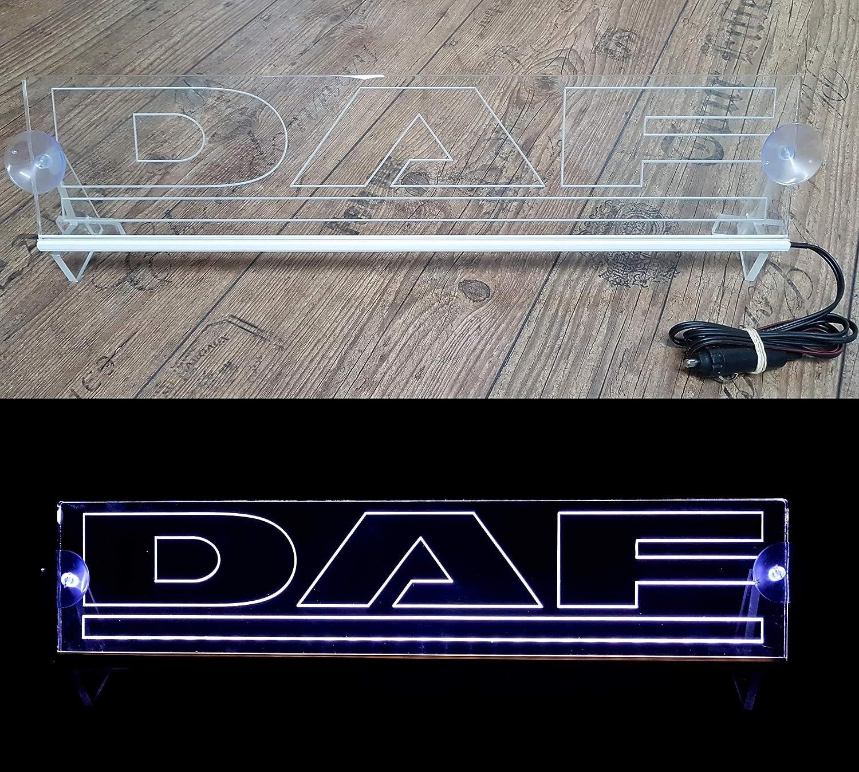 Placa de luz LED de 24 voltios con Logotipo para cami/ón decoraci/ón de Cabina Accesorios Grabados 24 V//5 W Letrero iluminador