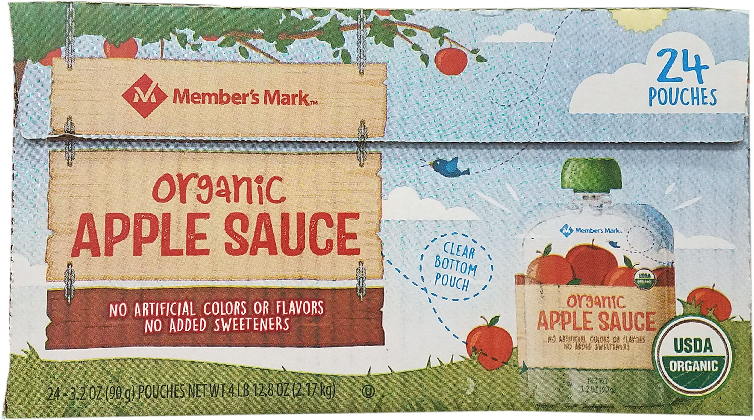 Member's Mark Apple Sauce Pouches, 76.8 Ounce by Member's Mark Apple (Image #1)