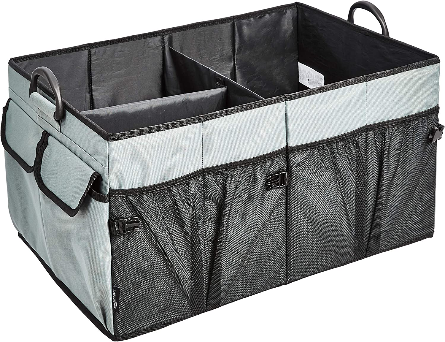 Basics Trunk Organizer with Collapsible Design for Cars Black and Trucks SUVs