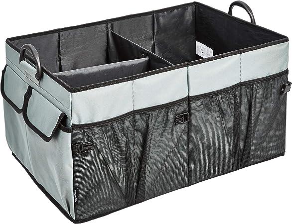 Amazon Basics Faltbarer Kofferraum Organizer Mit Kunststoffgriffen Grau Auto