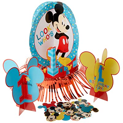 amscan Disney Mickey's Fun to be One Table Decorating Kit, Birthday: Toys & Games
