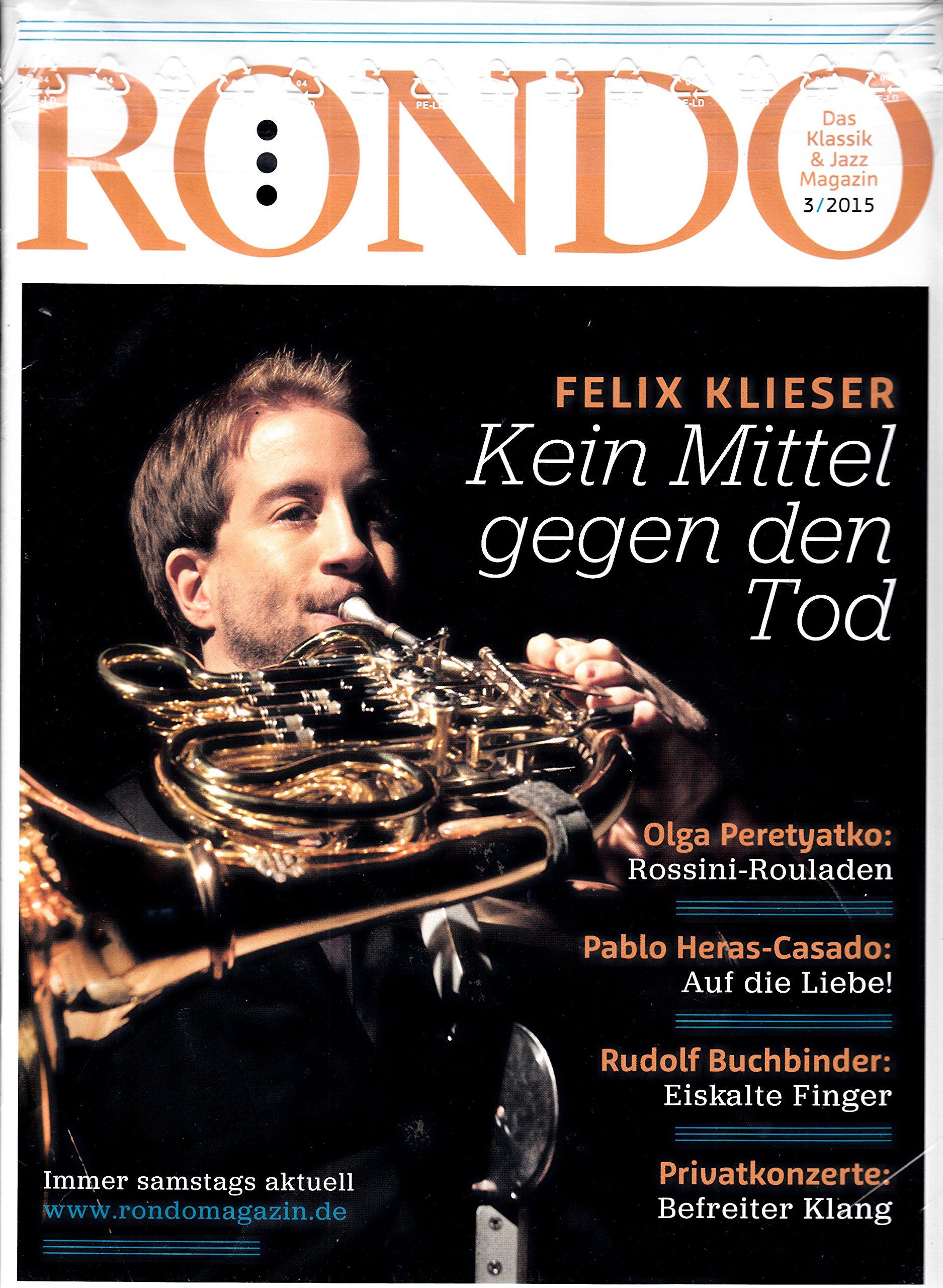 Rondo Magazin 3 2015 mit CD Felix Klieser Zeitschrift