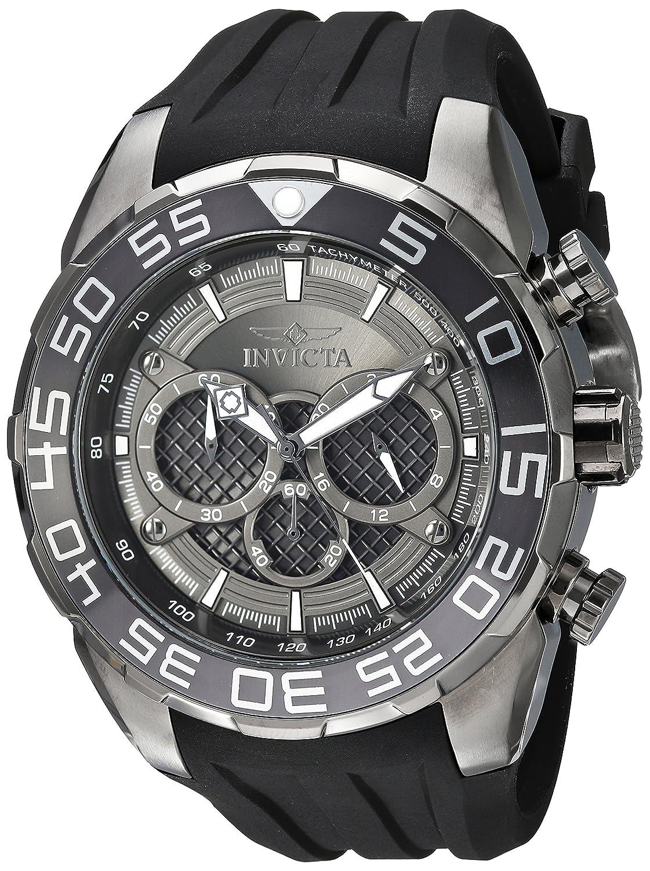 Invicta Men s Speedway Stainless Steel Quartz Watch with Silicone Strap, Black, 30 Model 26308
