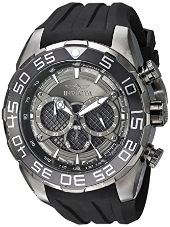 Amazon.com: Invicta Mens Speedway Stainless Steel Quartz Watch with Silicone Strap, Black, 30 (Model: 26308): Invicta: Watches