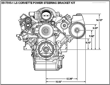 Amazon Com Ls Corvette Power Steering Bracket Kit Ls2 Ls3 Ctsv G8