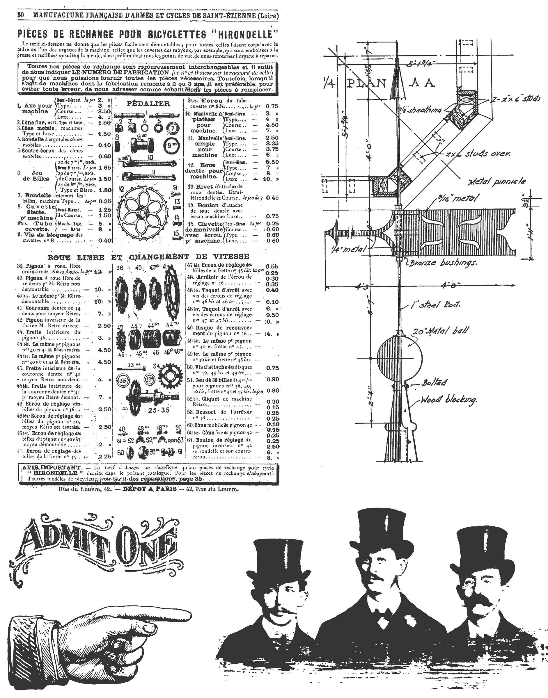 Stampers Anonymous Tim Holtz Cling Rubber Stamp Set, Steampunk