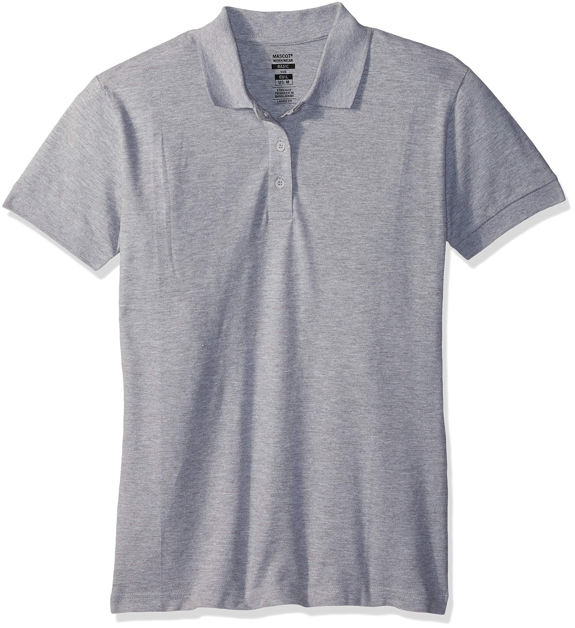 Mascot 51588-969-08-L Woman-Poloshirt''Grasse'' Size L, Grey-Flecked