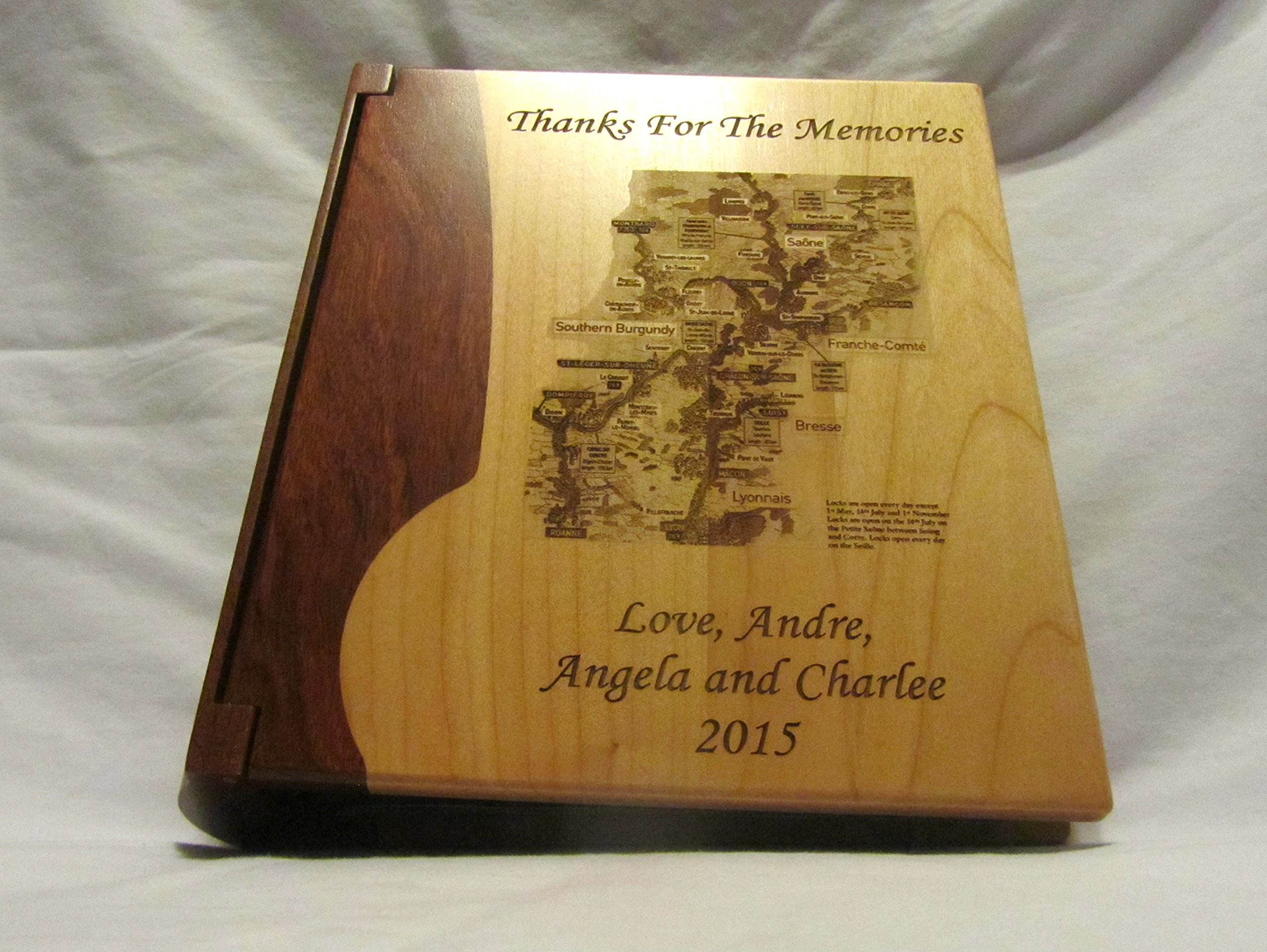 Personalized Wooden Photo Album With Your Custom Design - Large by Whitetail Woodcrafters (Image #4)