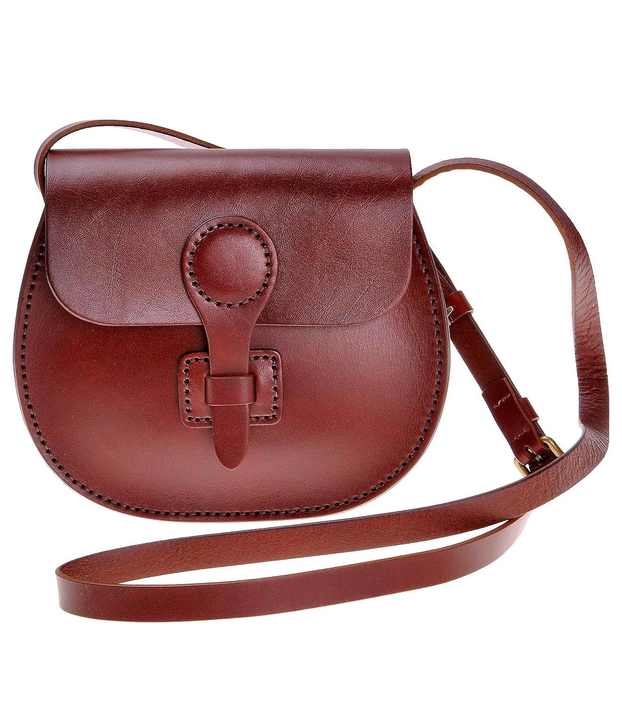 ZLYC Women Handmade Vegetable Tanned Leather Fashion Mini Arc Shoulder Bag