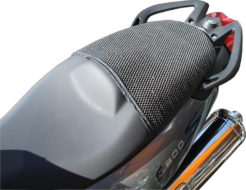 Cubierta TRIBOSEAT para Asiento Antideslizante Accesorio Personalizado Negro Compatible con BMW F800ST 2007-2012