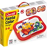 Quercetti - FantaColor Design - 300 Piece Creative Art Set with Colored Pegs and Storage Tray, for Kids Ages 3 Years +