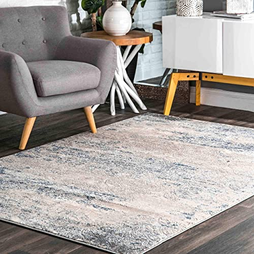 nuLOOM Twilight Tribal Distressed Area Rug, 5 x 8 , Silver