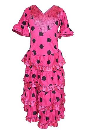 62e2131d320a La Senorita Flamenco Dress DeLuxe Pink Black - Size 12 - Length 85 cm - 33  inch: Amazon.co.uk: Clothing