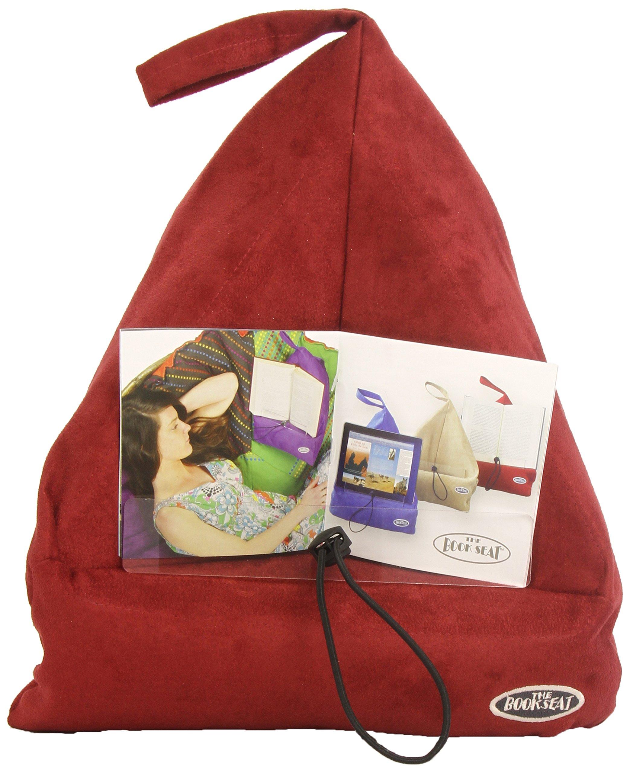 The Book Seat cojín-atril para libros y tabletas rojo ...
