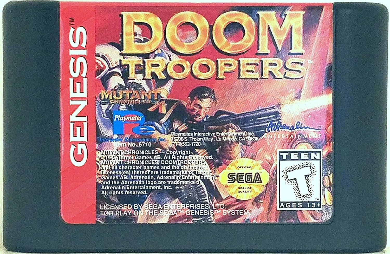 Doom Troopers By Mutant Chronicles Sega Genesis Video Game