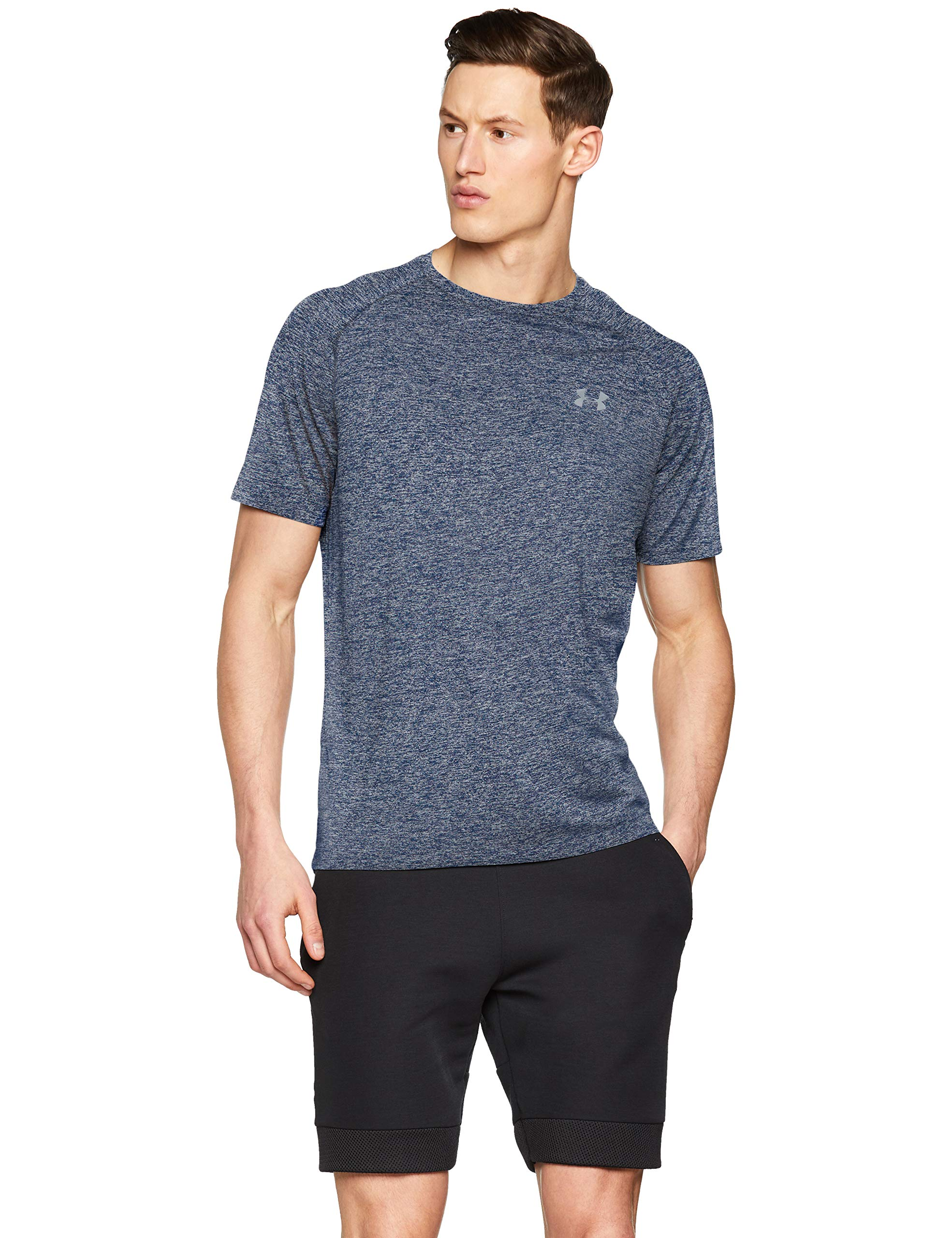 Under Armour Men's UA Tech Short Sleeve Tee 2.0, Academy, XS-R