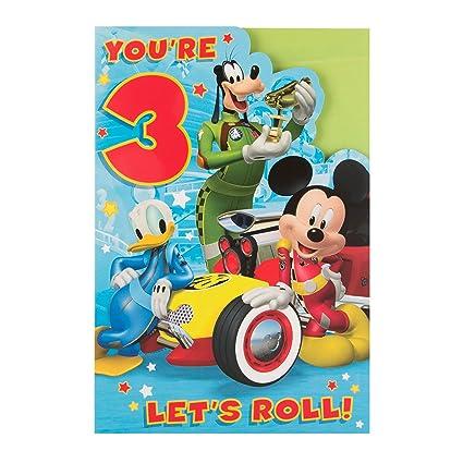Amazon Hallmark MediumLets Roll Mickey Mouse 3rd Birthday