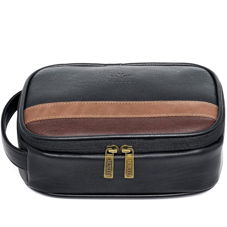 Vetelli Toiletry Bag For Men – Perfect Bathroom Organizer or Travel Dopp Kit – Great Gift For Men