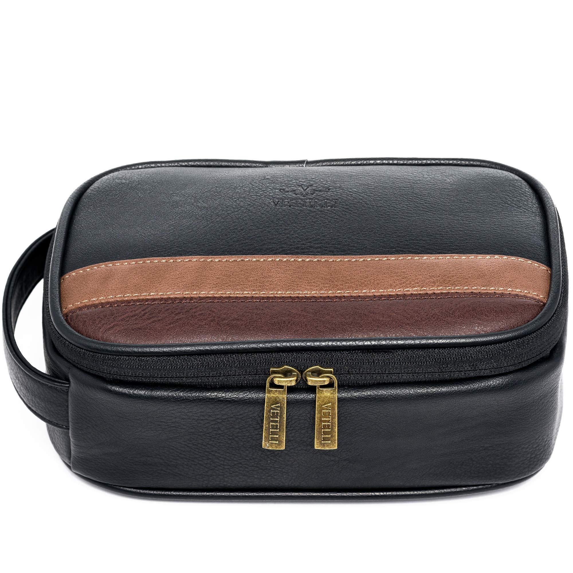 Vetelli Toiletry Bag For Men - Perfect Bathroom Organizer or Travel Dopp Kit - Great Gift For Men by Vetelli
