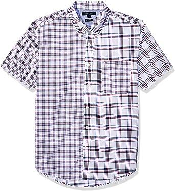 Tommy Hilfiger Mens Medium Plaid Button Down Shirt