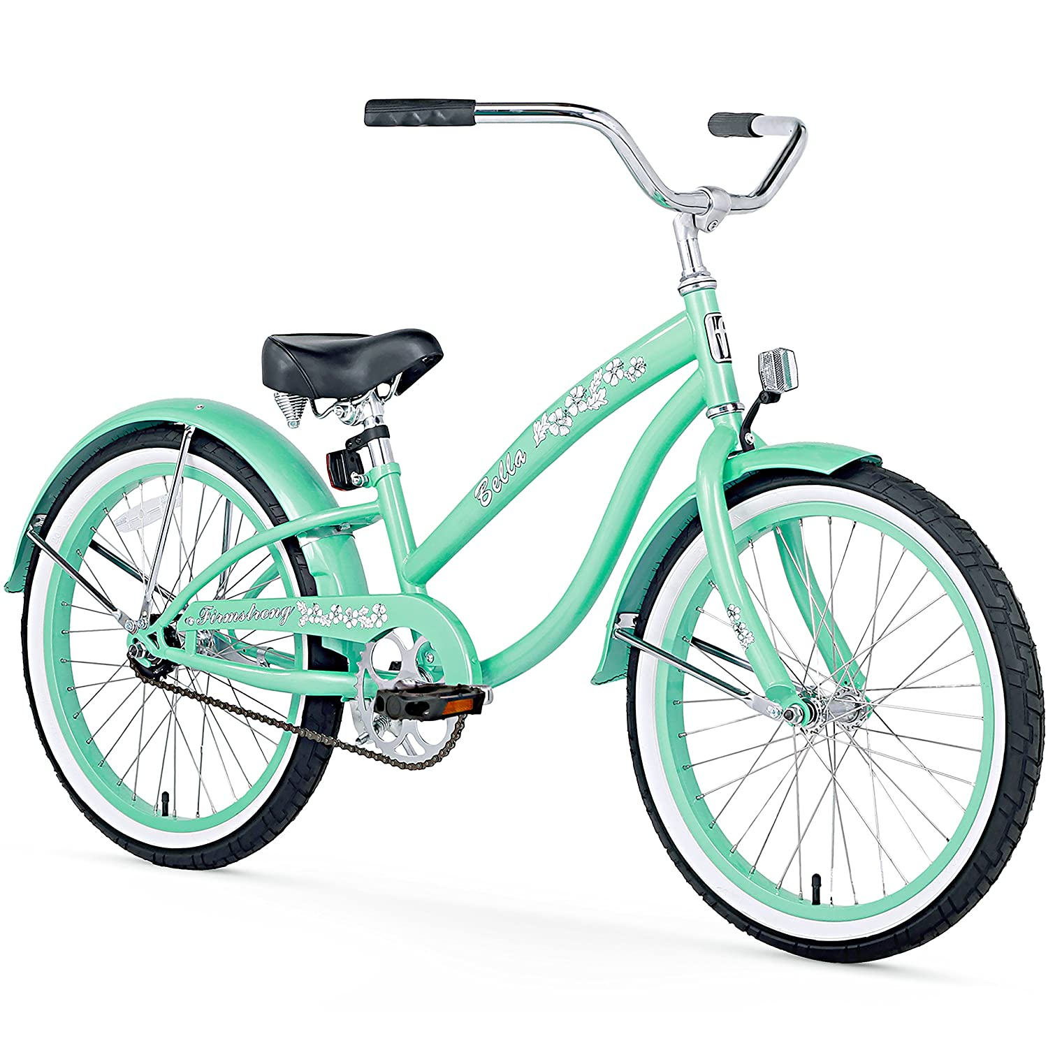Firmstrong Girl's Bella Classic Single Speed Cruiser Bicycle 20-Inch Baby Blue 15100