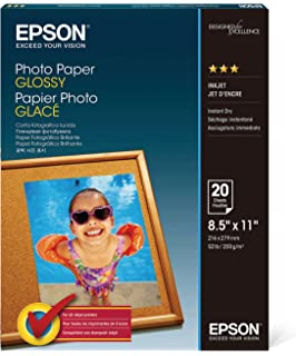 Amazoncom Epson Premium Photo Paper Semi Gloss 85x11 Inches 20
