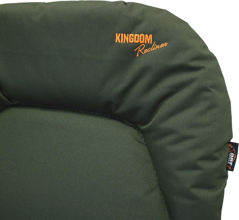Kingdom Recliner Karpfenstuhl Angelstuhl mit Armlehnen bis 130kg Campingstuhl