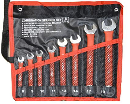 1d3ffabb32 KAG 702 Double Sided Combination Wrench Set (Pack of 8)  Amazon.in  Home  Improvement