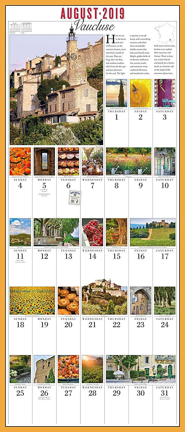 Amazon.com : 365 Days in France Picture-A-Day Wall Calendar 2019 : Office  Products
