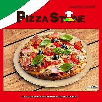 """15 """"redondo piedra para pizza para horno hornear cocinar cocinar y molde para horno"""