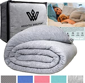 """Weighted Evolution Weighted Blanket+ Bonus Organic Bamboo Duvet Cover 