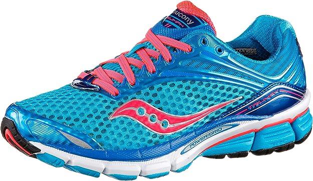 Saucony Powergrid Triumph 11 Zapatillas de running mujer Azul blue/vizi coral Talla:6 Reino Unido: Amazon.es: Deportes y aire libre
